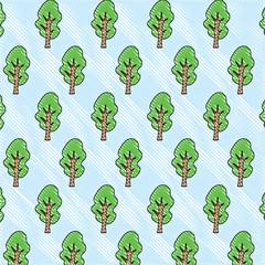 trees background, colorful design. vector illustration