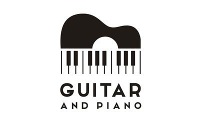 Guitar Piano logo design inspiration