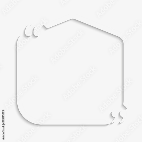 Speech Bubble Square Empty Quote Bracket Stock Image And Royalty