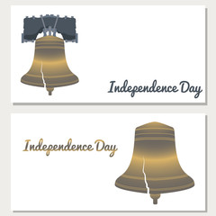 Independence Day of the USA. Liberty Bell. Flyers for event participants.