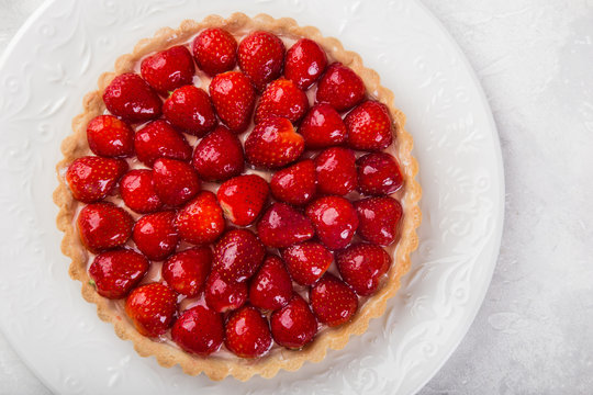 slice of delicious strawberry tart