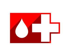 medical plus red icon image vector icon