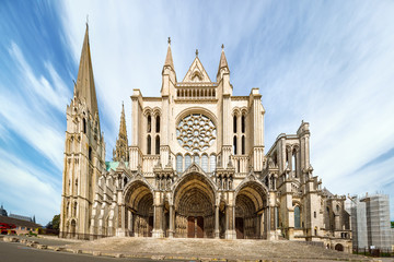 South side of Chartres Cathedral Wall mural