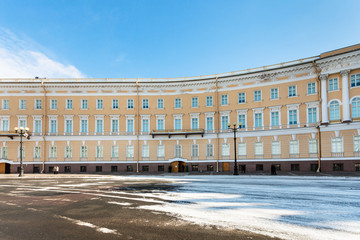 wing of General Staff Building on Palace Square