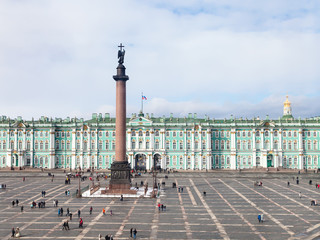 above view of Palace Square and Winter Palace