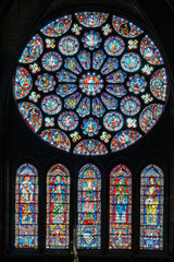 Stained-glass windows in Chartres Cathedral