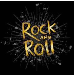 Rock and Roll hand lettering