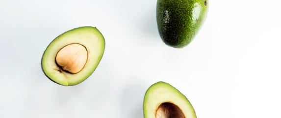 Fresh green avocado
