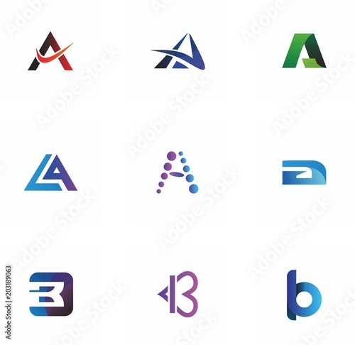 a, b,ab, ba letter logo design for graphic, typography and