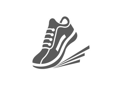 Modern athletics shoes icon