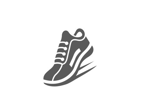 Modern Fast Running Sports shoe icon