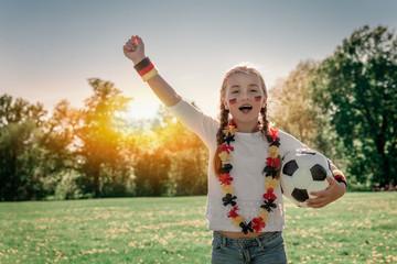 german soccer fan child