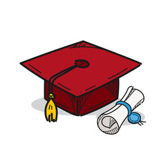 Graduation cap illustration on a white background
