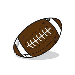 American Football illustration on a white backgroundillustration on a white background