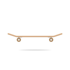 Skateboard side view vector isolated