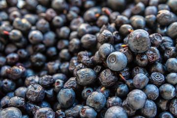 Ripe fresh juicy blueberries