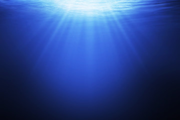 Abstract underwater background in the sea