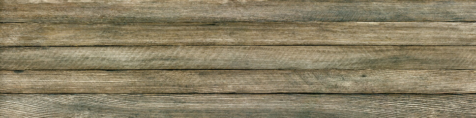 horizontal panoramic retro grunge background of wooden planks