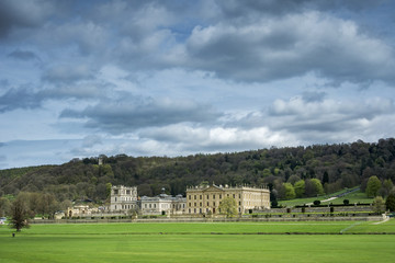 Chatsworth House in extensive grounds in Derbyshire