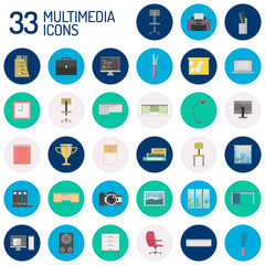 Multimedia Icons Design