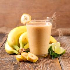 banana smoothie or milkshake