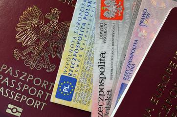 dokumenty paszport i pieniądze