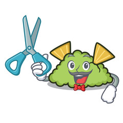 Barber guacamole character cartoon style