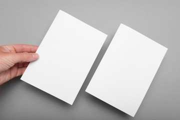 A5 paper page template, flyer blank mockup.