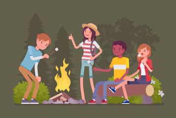 Campfire outdoor fun