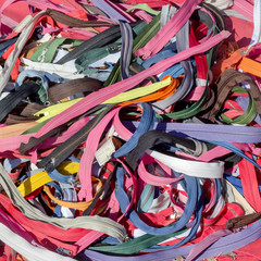 Zelfklevend Fotobehang Paradijsvogel zipper in different colors