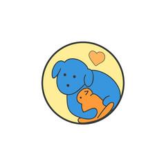 logo dog hugging cat