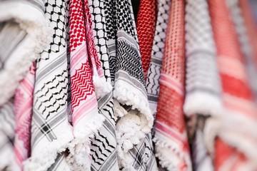 Kufiya man's head scarf popular in the Arab countries.