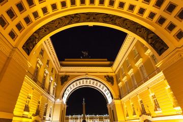 Triumphal Arch in Saint Petersburg in night