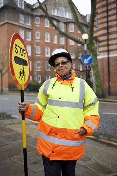 Portrait of a crossing guard