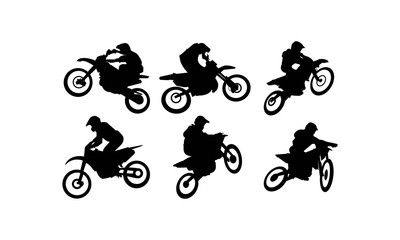 Silhouettes of Rider Motocross