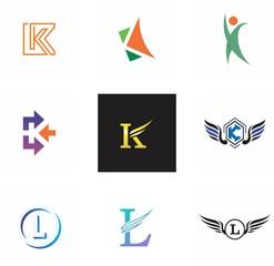 j, l, jl, lj letter logo design for company, technology and branding