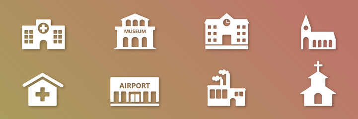 Symbol-Set - Gebäude