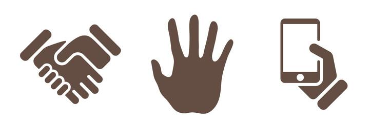 Symbol-Set - Hände