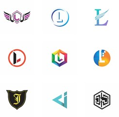 j, l, jl, lj letter logo design for icon, web, technology, and corporate
