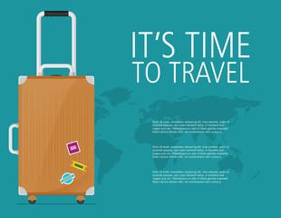 flat travel illustration design concept background. eps10 vector