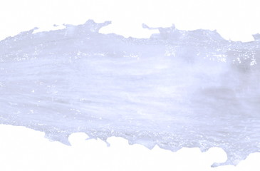 water flow and splashing on white background