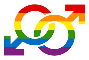Icons Male Gay Rainbow
