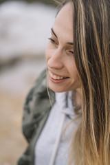 Close-up of a girl looking at camera
