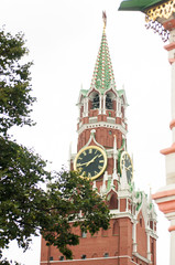 Kremlin clock on the tower in Moscow, Red Square