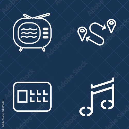 Premium set of outline vector icons  Such as safety, bank