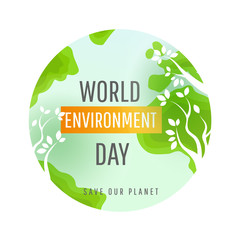 World environment day vector card, poster.