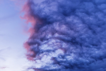blue clouds in the sky