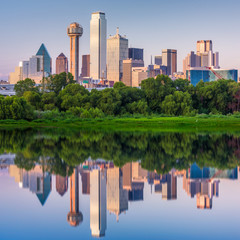 Fototapete - Dallas, Texas, USA Skyline