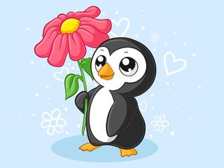 Putziger Comic Pinguin