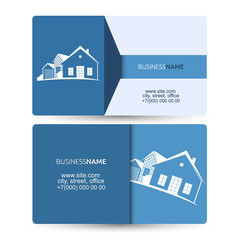 Sale and construction of housing business card